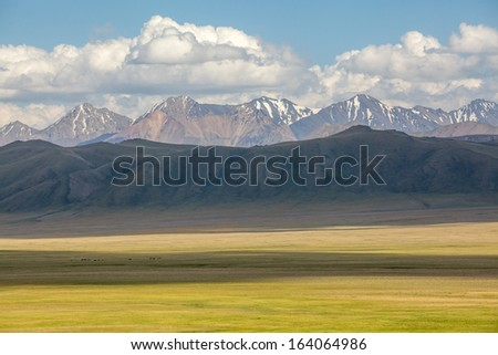 Mountain landscape, Tien Shan, Kyrgyzstan - stock photo