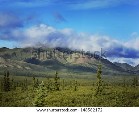 Mountain Landscape With A Blue Sky