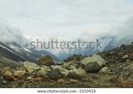 Mountain landscapes - stock photo