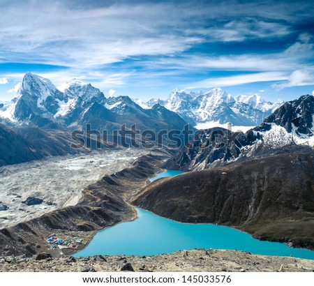 mountain lanscape - stock photo