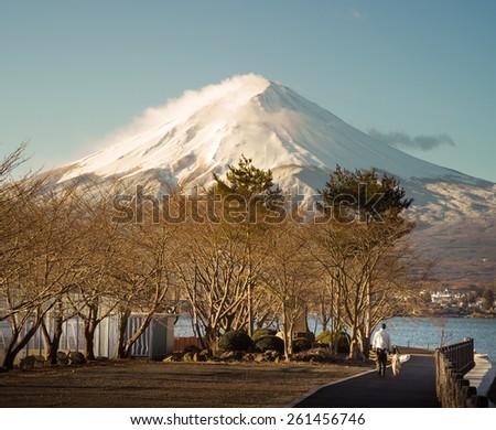 mountain of Fuji - stock photo