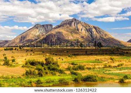 Mountain of Madagascar, Africa - stock photo