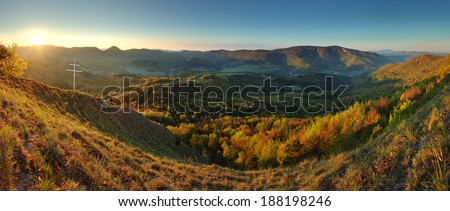 Mountain panorama in Slovakia  - stock photo