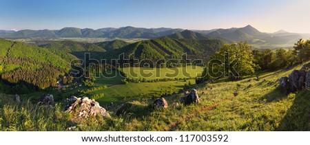 Mountain panorama landscape - stock photo