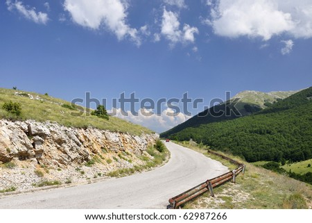 Mountain peaks at Galicica, Macedonia - stock photo