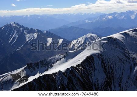 Mountain Peaks - Himalaya, Mountain Climb- Stok Kangri (6,150m / 20,080ft), India - stock photo