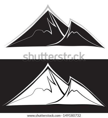 mountain peaks jpg version - stock photo
