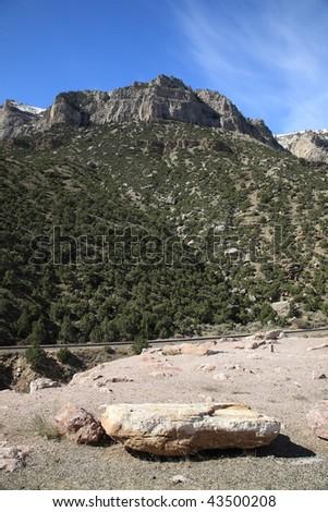 Mountain Peaks - Wyoming - stock photo