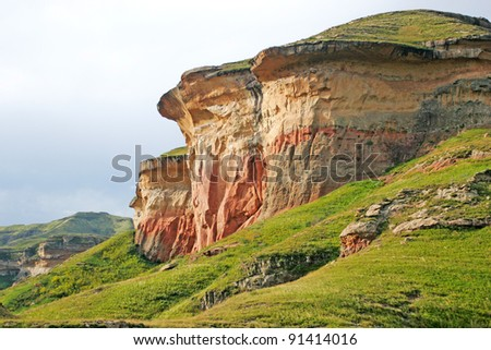Mountain range from the drakensberg in South Africa - stock photo