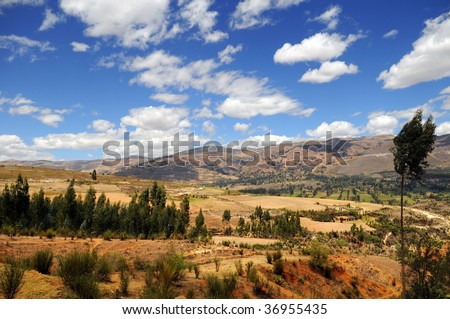 Mountain range in Cajamarca, in the northern Andes of Peru