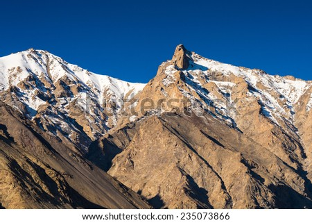 Mountain range in Leh Ladakh, India  - stock photo
