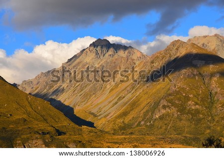 Mountain Range in New Zealand