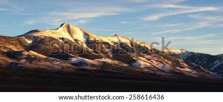 Mountain Range Surrounds Great Basin National Park Nevada - stock photo