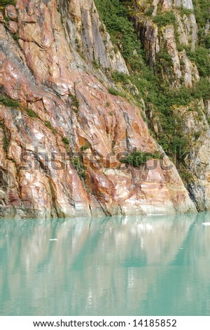 Mountain reflections - stock photo