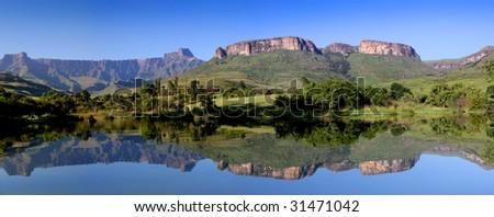 mountain reflexion - stock photo