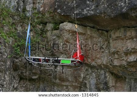 Mountain rescue stretcher - stock photo