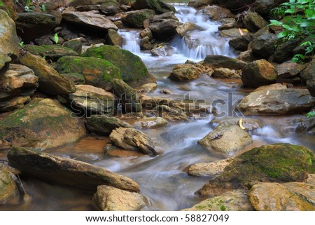 Mountain River in Thailand national park. - stock photo