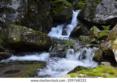 Mountain river, Retezat, Carpathians Romania - stock photo