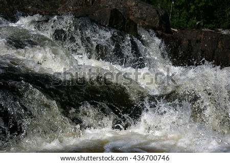 Mountain River, Rushing Water Flowing Texture