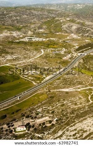 Mountain Road,Cyprus - stock photo