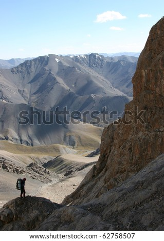 Mountain scale - stock photo