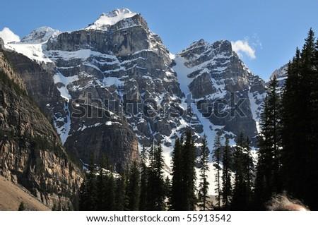 mountain sceneries, banff national park, canadian rockies - stock photo
