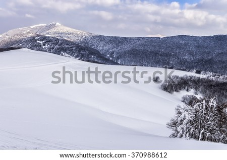 Mountain scenery in Vigla, Florina's ski center, Greece