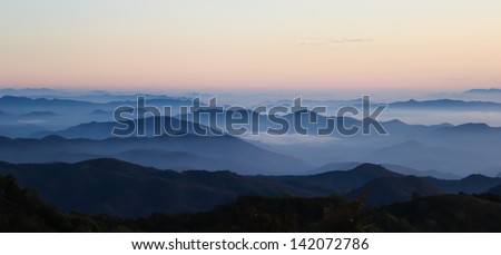 Mountain scenic in Thailand is  most beautiful - stock photo