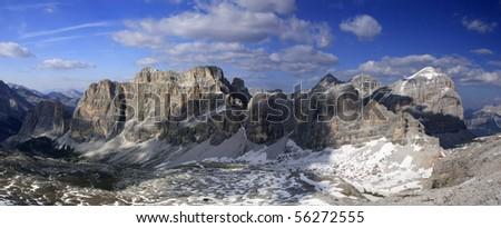mountain tops - stock photo