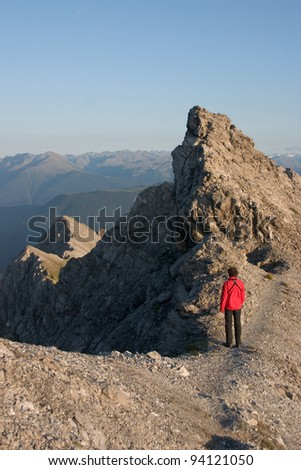 Mountain tour - stock photo