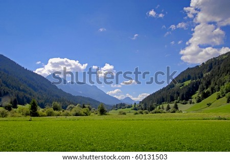 Mountain valley landscape - stock photo