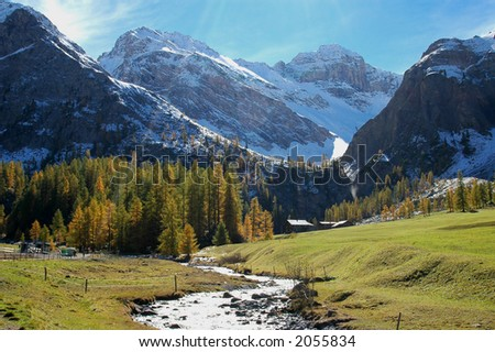 mountain view - stock photo