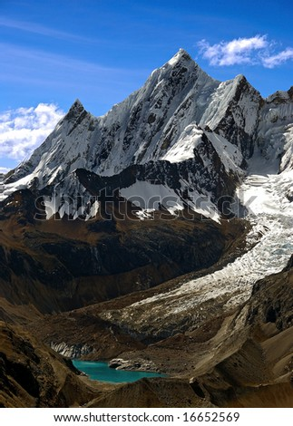 mountain view from peru - stock photo