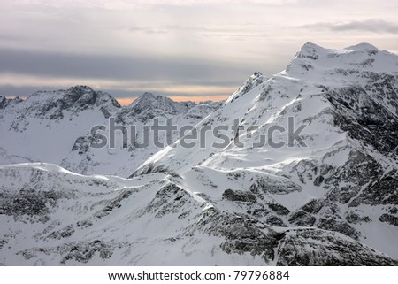 Mountain view in Austrian Alps