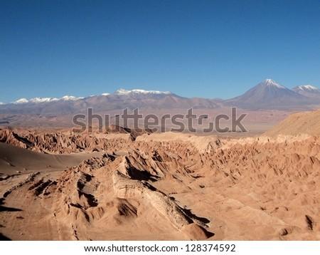 mountain view in the desert of Chile san Pedro de atacama wonderfull hills - stock photo