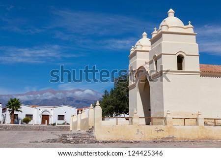 Mountain village Cachi, Ruta 40, Salta, Argentina - stock photo