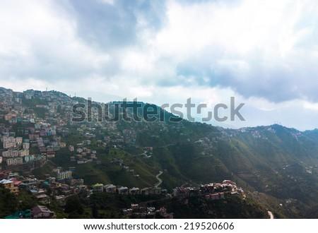 Mountain village in India  - stock photo