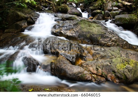 Mountain waterfall in thailand - stock photo