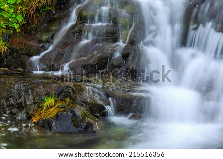 Mountain waterfalls in the Transylvanian Alps