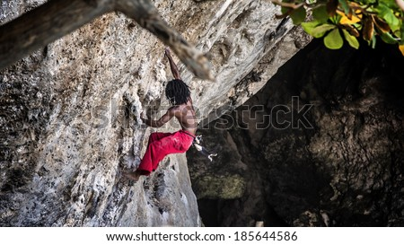 Mountaineer in railay Krabi, Thailand