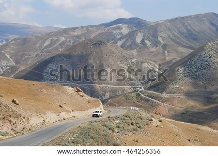 Mountainous road in Azerbaijan.
