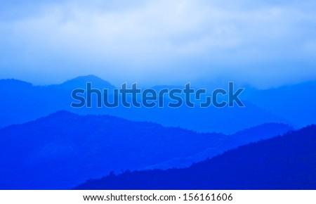 Mountainous tropical Thailand - stock photo