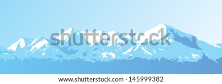 mountains against the blue sky - stock photo