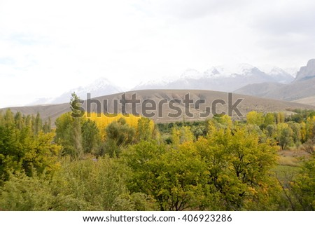 Mountains Aladaglar Demirkazik at Turkey - stock photo