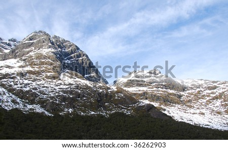 Mountains along the Caples Track, New Zealand - stock photo