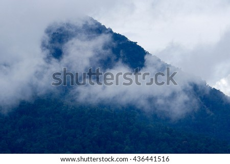 Mountains and clouds sky in thailand