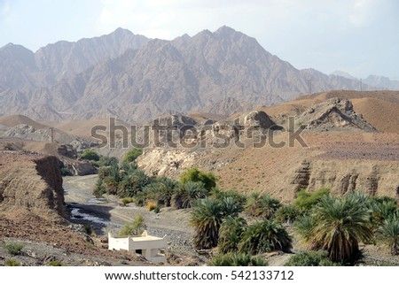 Mountains and landscape, Oman