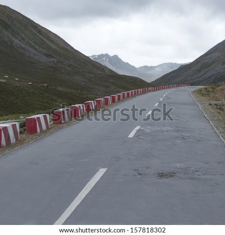 Mountains Highway - stock photo