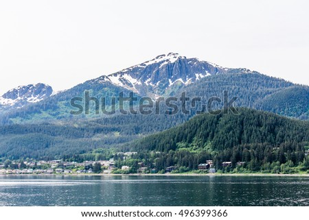 Mountains in Alaskan Wilderness by Water
