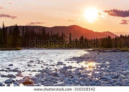 Mountains in Canada - stock photo